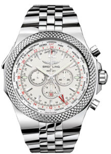 Breitling Bentley GMT Silver Dial Men's Chronograph Watch