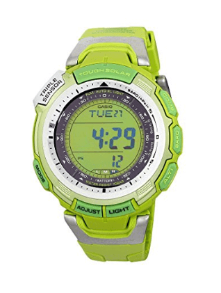 Casio Go Green Solar Pathfinder Rubber Men's Watch Special Edition