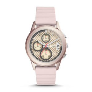 Fossil Modern Pursuit Sport Chronograph Blush Silicone Watch