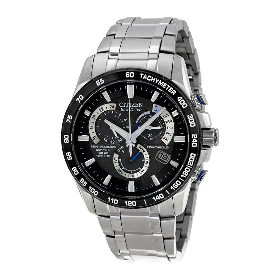 Citizen Men's Eco-Drive Titanium Perpetual Chrono A-T AT4010-50E