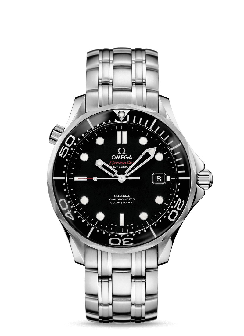 Omega Men's Seamaster Black Dial 212.30.41.20.01.003