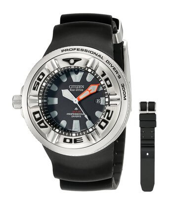Citizen Men's Eco-Drive Professional Diver Black Sport BJ8050-08E