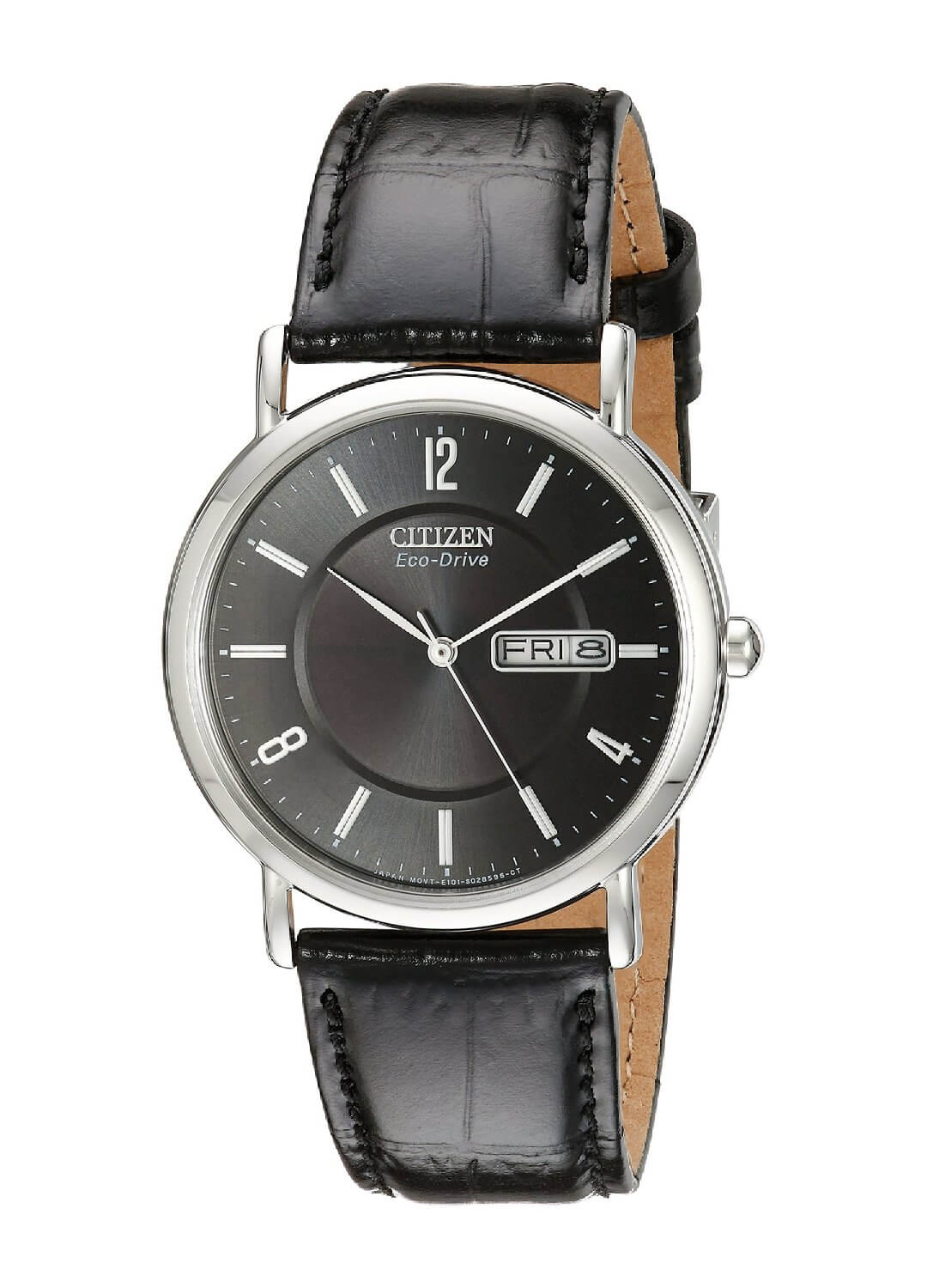 Citizen Men's Eco-Drive Stainless Steel with Leather Band BM8240-03E