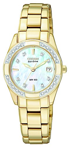 Citizen Women's Eco-Drive Regent Gold-Tone Diamond-Accented EW1822-52D