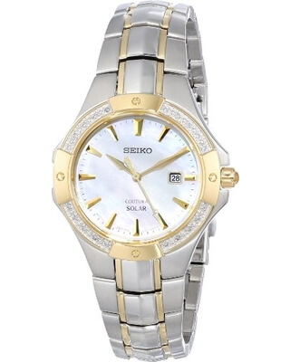 Seiko Analog Display Japanese Quartz Two Tone SUT124