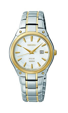 Seiko Dress Solar Analog Display Japanese Quartz Two Tone SUT128