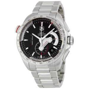Tag Heuer Grand Carrera Automatic Chronograph Black Dial CAV5115.BA0902