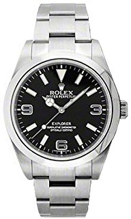 Rolex Explorer Black Dial Stainless Steel Oyster Automatic Watch 214270BKASO