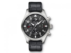 IWC Pilot Black Dial Chronograph Automatic IW377701
