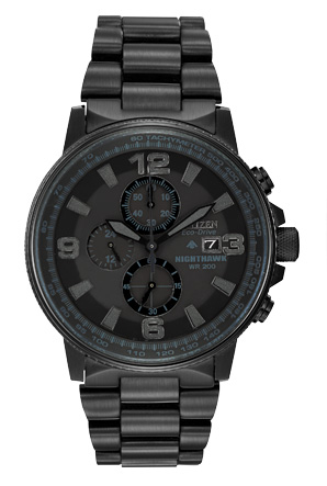Citizen Eco-Drive Nighthawk Stainless Steel CA0295-58E