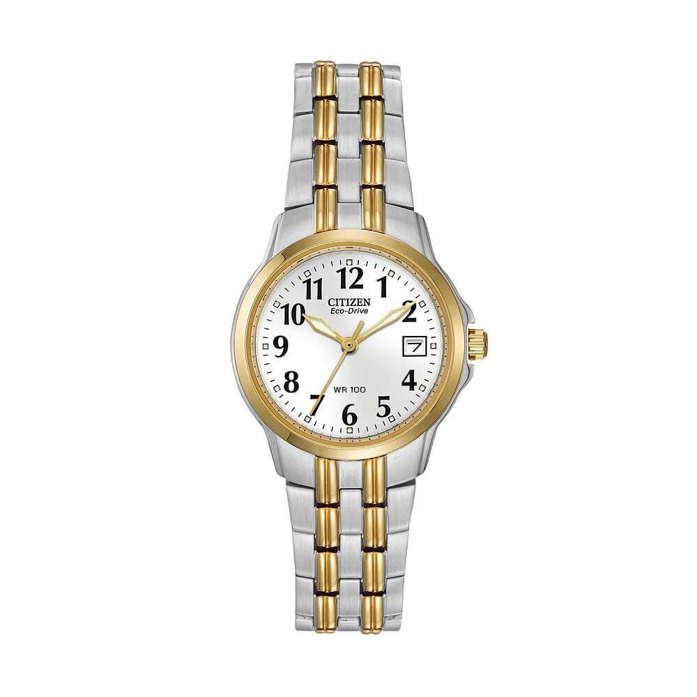 Citizen Eco-Drive Women's Silhouette Two-Tone Stainless Steel EW1544-53A