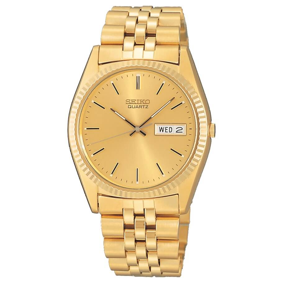 Seiko Gold-Tone Stainless Steel Dress SGF206