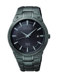 Seiko Dress Solar Black Stainless Steel SNE325