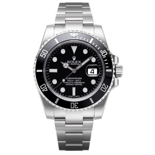 Rolex Submariner Black Dial Ceramic Bezel Steel 116610LN