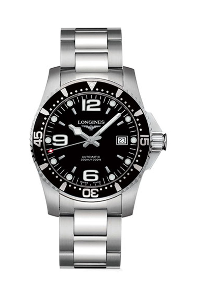 Longines Black Dial HydroConquest Automatic L3.642.4.56.6