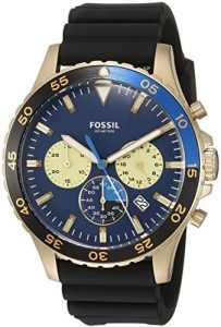 Fossil Men's CH3074 Crewmaster Sport Chronograph Black Silicone Watch